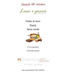 Evento Menu Lesso con Pearà Tipica Veronese