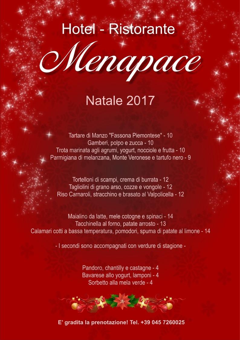 Menu Di Natale Verona.Pranzo Di Natale Hotel Menapace
