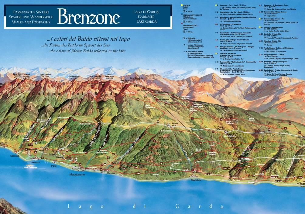 App For Trecking In Brenzone Sul Garda Hotel Menapace