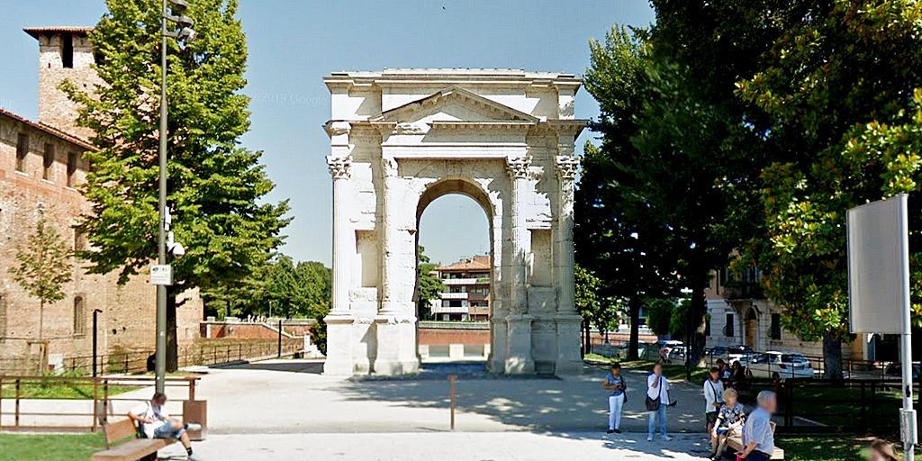 Arco dei Gavi nella Verona di epoca romana